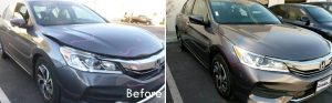 Honda Before and After Telesis Collision Center auto body repairs in Palmdale CA